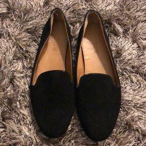 Black suede JCrew loafers